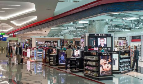 Dubai Duty Free shops at Concourse A_ Sept 2013